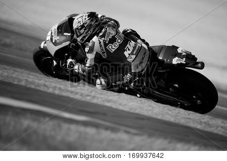 VALENCIA, SPAIN - NOV 13: Mika Kallio during Motogp Grand Prix of the Comunidad Valencia on November 13, 2016 in Valencia, Spain.