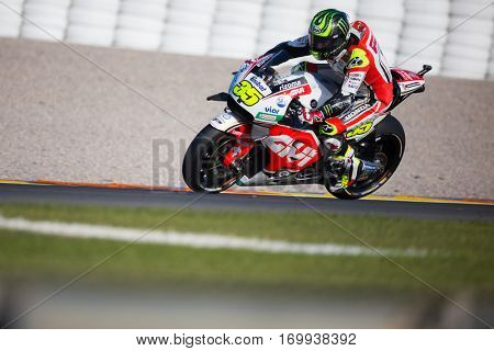 VALENCIA, SPAIN - NOV 13: Cal Crutchlow during Motogp Grand Prix of the Comunidad Valencia on November 13, 2016 in Valencia, Spain.