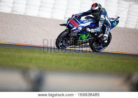 VALENCIA, SPAIN - NOV 13: Jorge Lorenzo during Motogp Grand Prix of the Comunidad Valencia on November 13, 2016 in Valencia, Spain.