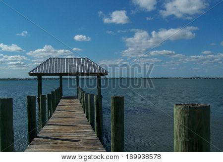 View of Intracoastal Waterway in Stuart, Florida