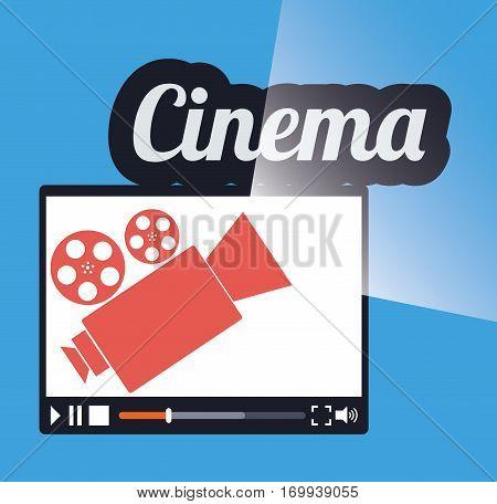 cinema online movie film projector vector illustration eps 10