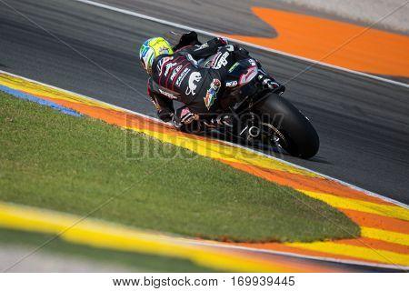 VALENCIA, SPAIN - NOV 13: Zarco in Moto2 Race during Motogp Grand Prix of the Comunidad Valencia on November 13, 2016 in Valencia, Spain.