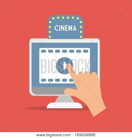 cinema movie computer digital concept vector illustration eps 10