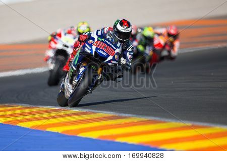 VALENCIA, SPAIN - NOV 13: Jorge Lorenzo during Motogp Grand Prix of the Comunidad Valencia on November 13, 2016 in Valencia, Spain.