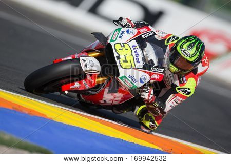 VALENCIA, SPAIN - NOV 12: Cal Crutchlow during Motogp Grand Prix of the Comunidad Valencia on November 12, 2016 in Valencia, Spain.