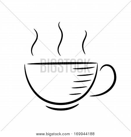 coffee cup line art vector illustration, refreshment, decaf, takeaway, holder, coffe, beverage, drink, latte,