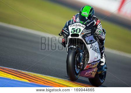 VALENCIA, SPAIN - NOV 12: Eugene Laverty during Motogp Grand Prix of the Comunidad Valencia on November 12, 2016 in Valencia, Spain.