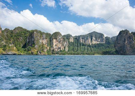 The coast of Andaman sea Krabi province Thailand