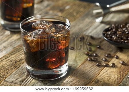 Alcoholic Boozy Black Russian Cocktail