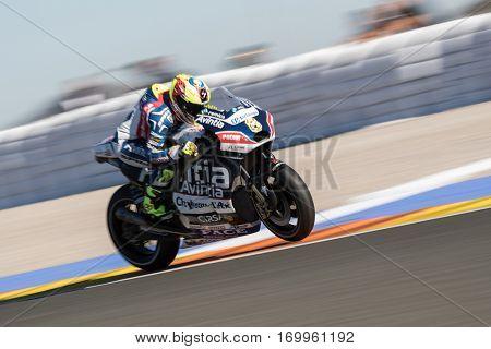 VALENCIA, SPAIN - NOV 11: Hector Barbera during Motogp Grand Prix of the Comunidad Valencia on November 11, 2016 in Valencia, Spain.