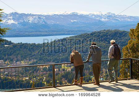 Friends Admiring The Landscape
