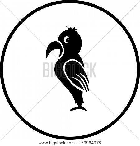 cartoon parrot symbol
