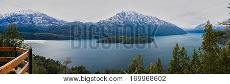 Panoramic View Of A Lake