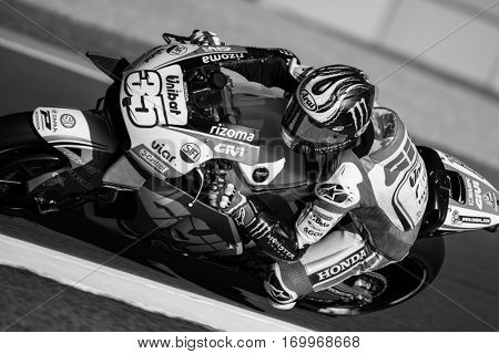 VALENCIA, SPAIN - NOV 11: Cal Crutchlow during Motogp Grand Prix of the Comunidad Valencia on November 11, 2016 in Valencia, Spain.