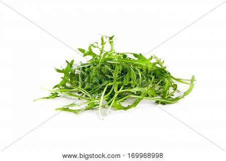 Rucola leaves isolated on the white background