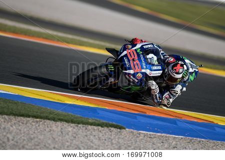 VALENCIA, SPAIN - NOV 11: Jorge Lorenzo during Motogp Grand Prix of the Comunidad Valencia on November 11, 2016 in Valencia, Spain.