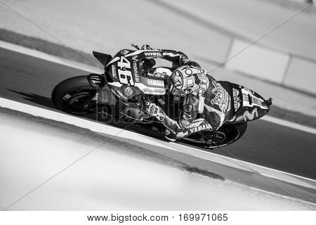 VALENCIA, SPAIN - NOV 11: Valentino Rossi during Motogp Grand Prix of the Comunidad Valencia on November 11, 2016 in Valencia, Spain.