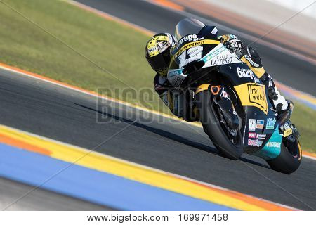 VALENCIA, SPAIN - NOV 11: Thomas Luthi during Motogp Grand Prix of the Comunidad Valencia on November 11, 2016 in Valencia, Spain.