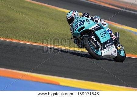 VALENCIA, SPAIN - NOV 11: Danny Kent during Motogp Grand Prix of the Comunidad Valencia on November 11, 2016 in Valencia, Spain.