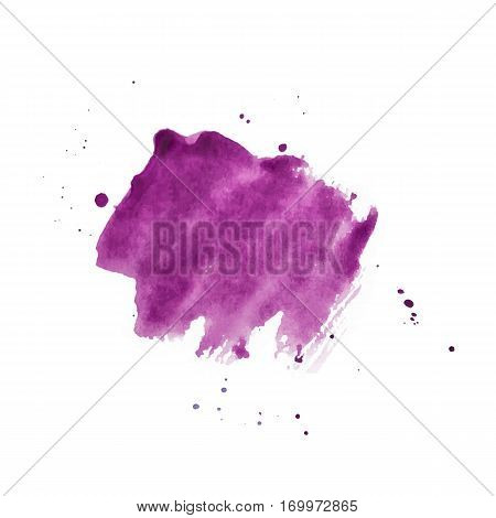 Vector Magenta Watercolor Background