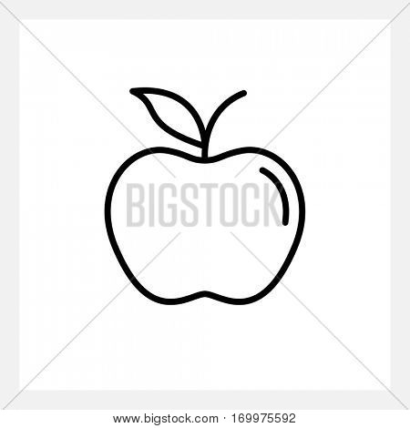 Apple icon isolated on white