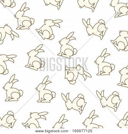 cute rabbit pattern background vector illustration design