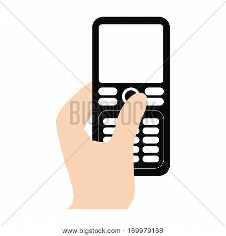 hand touch smart phone icon vector illustration eps 10