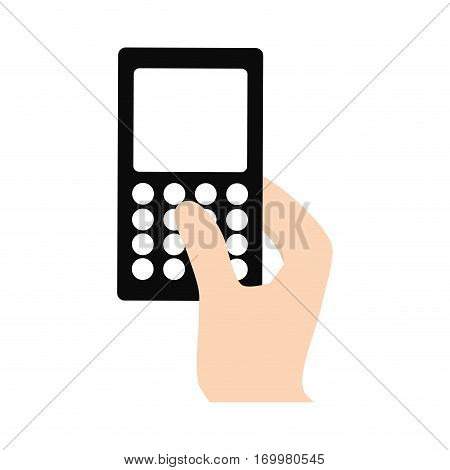 hand touch smart phone call vector illustration eps 10