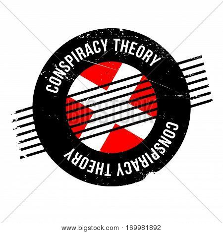 Conspiracy Theory rubber stamp. Grunge design with dust scratches. Effects can be easily removed for a clean, crisp look. Color is easily changed.