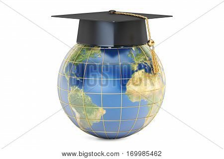 global education concept 3D rendering isolated on white background