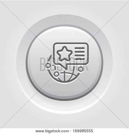 Targeted Locations Icon. Business and Marketing. Isolated Illustration. Product ADs shown at location on the Globe.