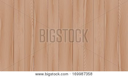 Realistic background of the wooden planks. Beautiful texture of planed hardwood. The backdrop for the presentation. Moraine pine boards light brown.