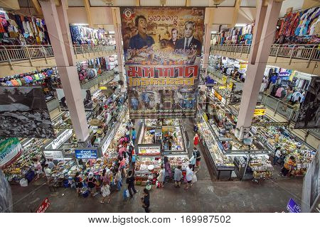 Chiang Mai Thailand - 7 August 2016 : Warorot Market locally called Kad Luang is one of Chiang Mai's largest markets and a place to see the real Chiang Mai. The market has been in operation since 1910.
