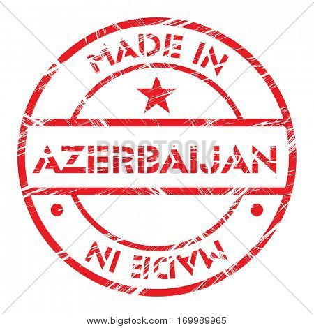 Made in Azerbaijan grunge rubber stamp