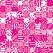 vector pink patchwork blanket, abstract art background poster