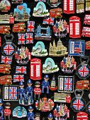 Fridge magnets showing all famous places and landmarks in London. poster