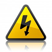 vector high voltage sign poster