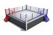 Boxing ring isolated on white background - 3d render poster