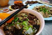 Famous Penang duck kway chap noodle rolls in soup poster