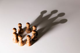 business leadership teamwork power and confidence concept