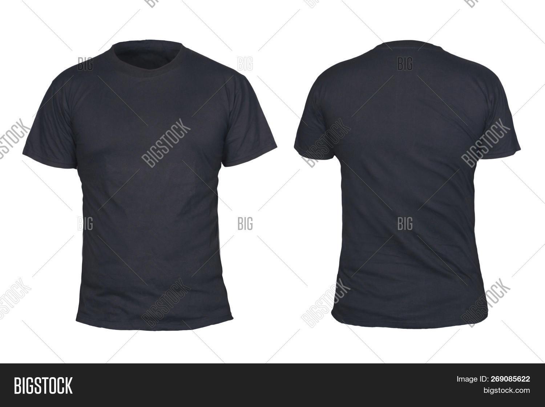 Black T Shirt Mock Image Photo Free Trial Bigstock