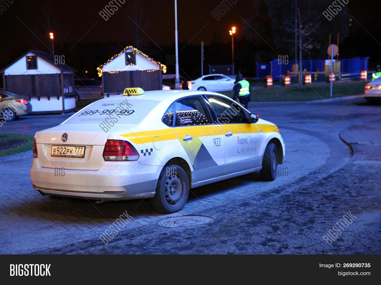 Taxi Car Night Waiting Image & Photo (Free Trial) | Bigstock