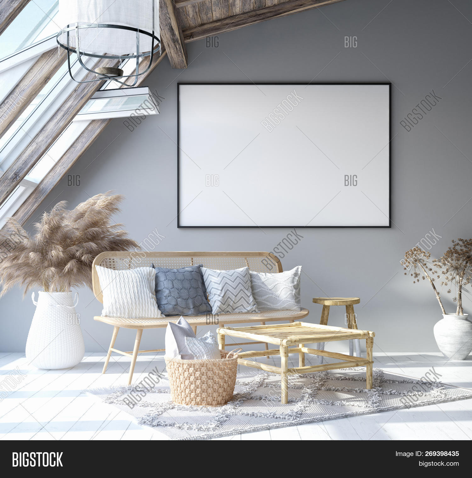 Mock Poster Frame Home Image Photo Free Trial Bigstock