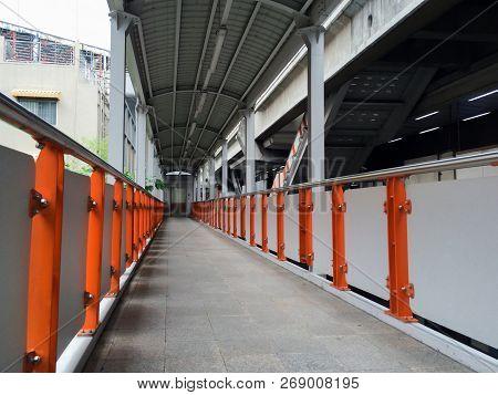 Walkway To Sky Train, Bts Walkway Path In Thailand