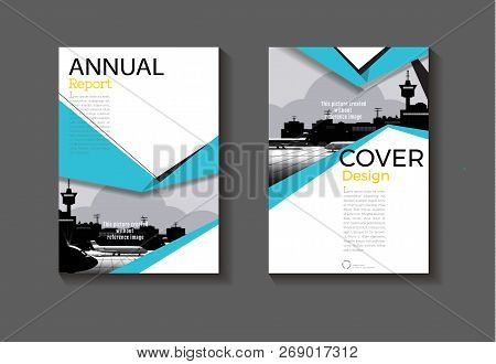 Sea-blue Design  Modern Abstract Layout Background Modern Cover Book Cover Brochure Cover  Template,