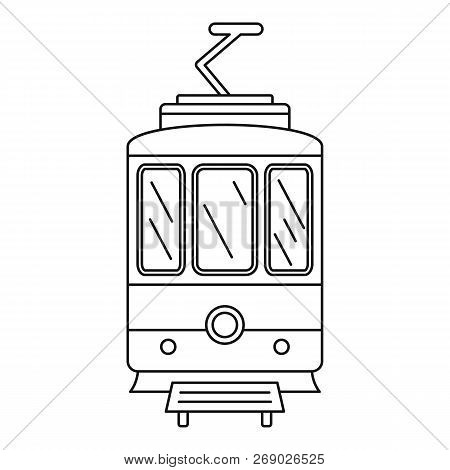 City Tramcar Icon. Outline City Tramcar Vector Icon For Web Design Isolated On White Background