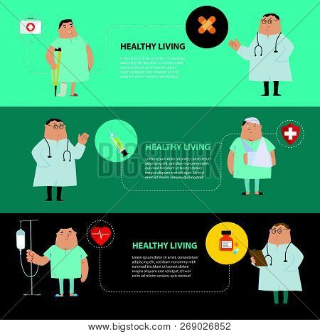 Health Care Concept. Vector Illustration Flat Modern Icons Design Elements Infographic. Isolated On