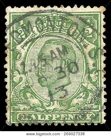 Great Britain - Circa 1912: Stamp Printed By Great Britain, Standard Edition On Heads Of State, Show
