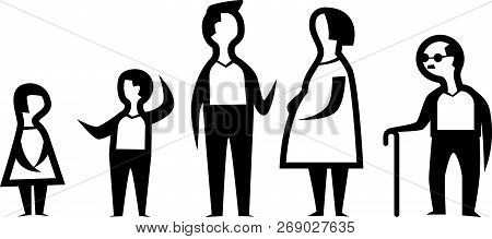 Family Icons Graphic  Body Boy Girl Care.