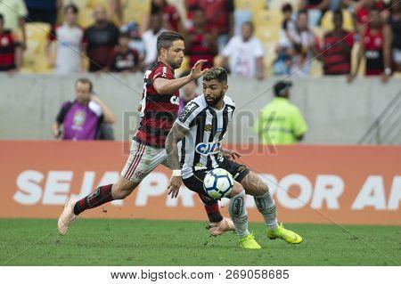 Rio, Brazil - November 15, 2018: Gabigol (gabriel) Player In Match Between Flamengo And Santos By Th